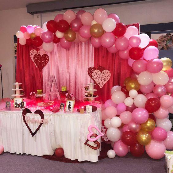 valentines day baby shower balloon garland