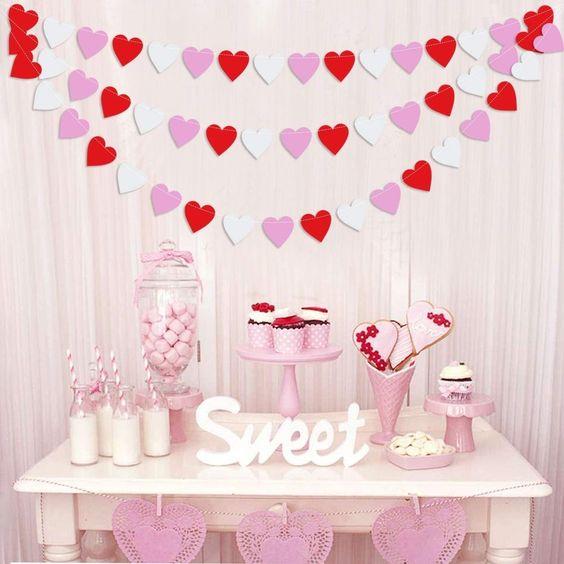 valentines day baby shower heart banner
