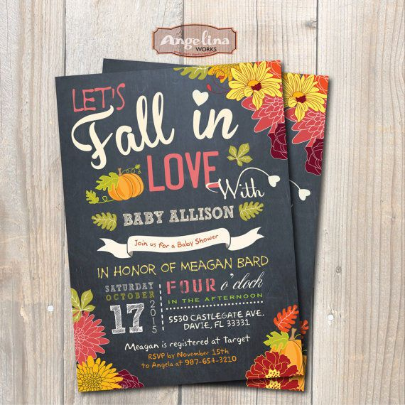 fall baby shower invite