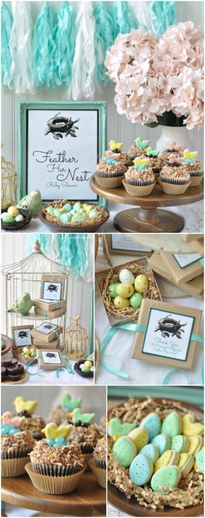 spring baby shower bird theme