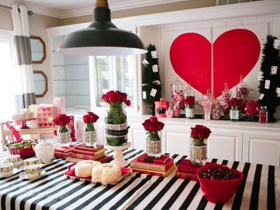 valentines day baby shower roses