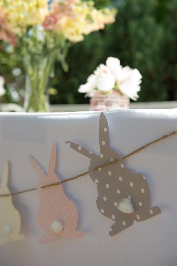 spring baby shower bunny bunting