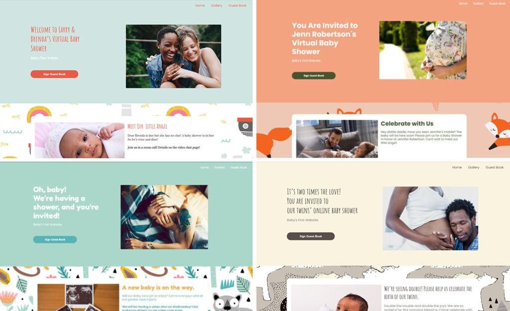 WBS home screenshot collage 2 | WebBabyShower