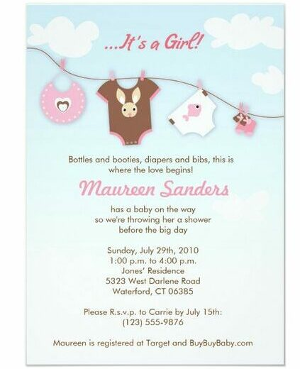 mothers day baby shower blue sky invite
