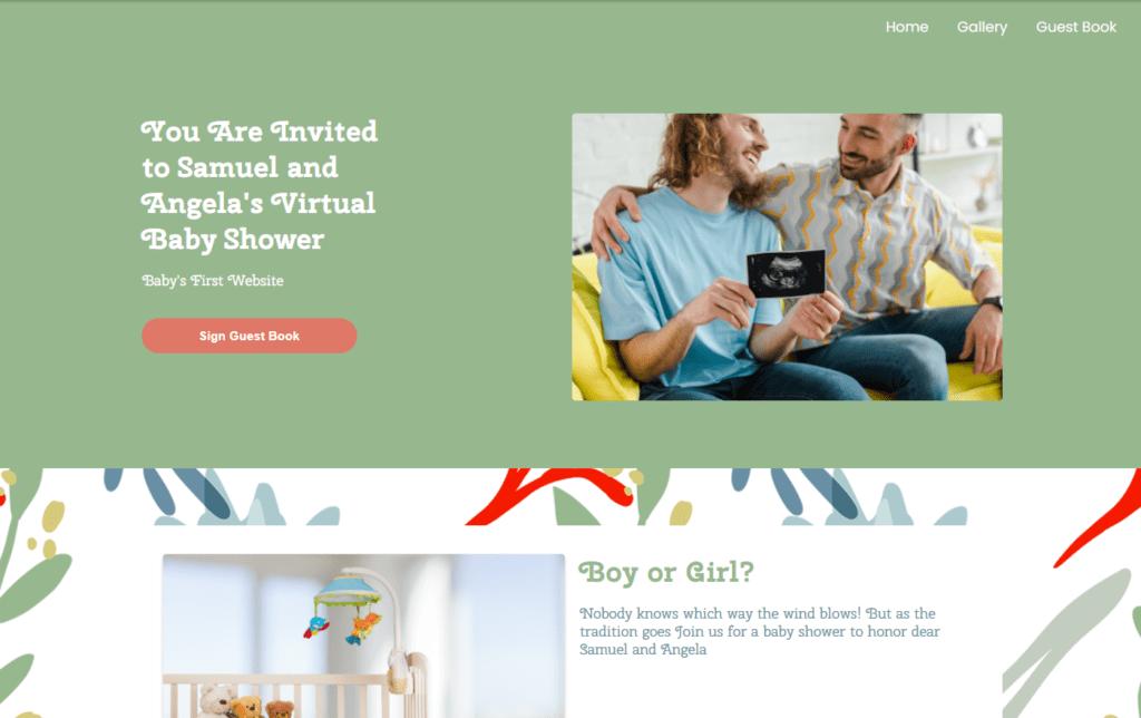 wbs homepage screengrab botanical redsea | WebBabyShower