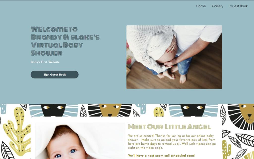 wbs homepage screengrab v2 africanlions | virtual baby shower sites | WebBabyShower