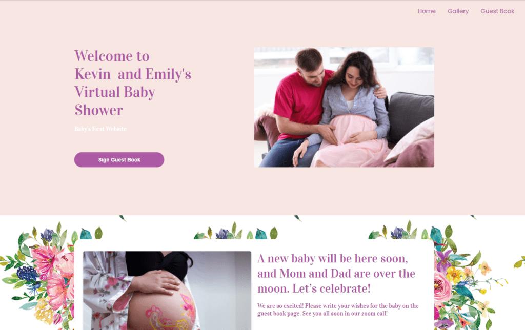 wbs homepage screengrab v2 bouquet | WebBabyShower