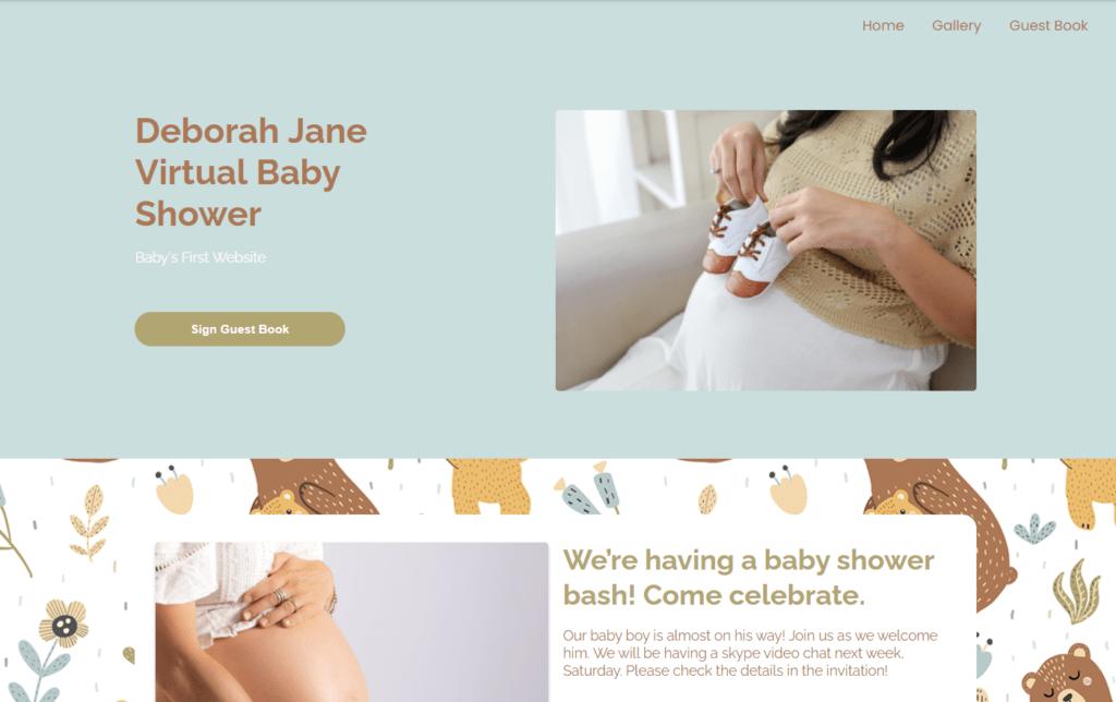 webbabyshower theme mama and baby bear