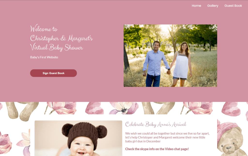 wbs homepage screengrab v2 teddybear | WebBabyShower