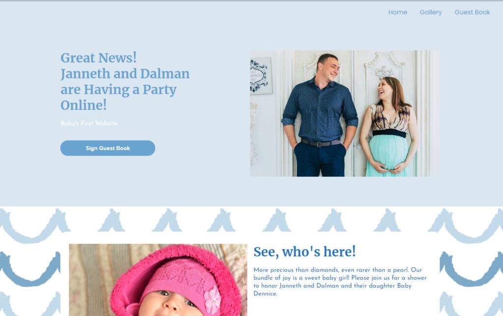 wbs homepage screengrab v3 bluewaves   WebBabyShower