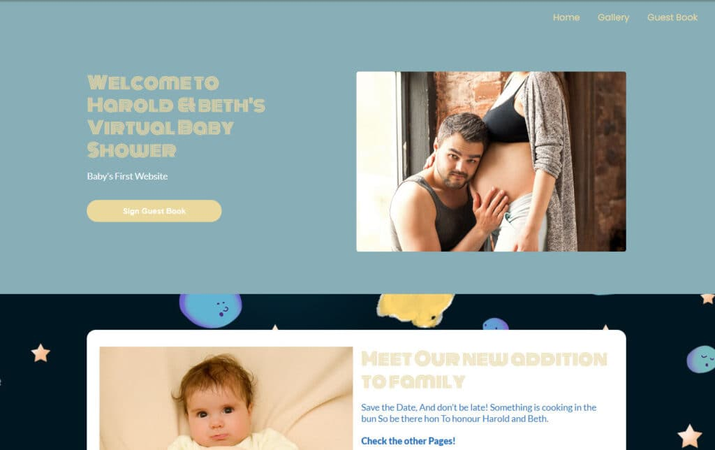 wbs homepage screengrab v3 happyplanets | WebBabyShower
