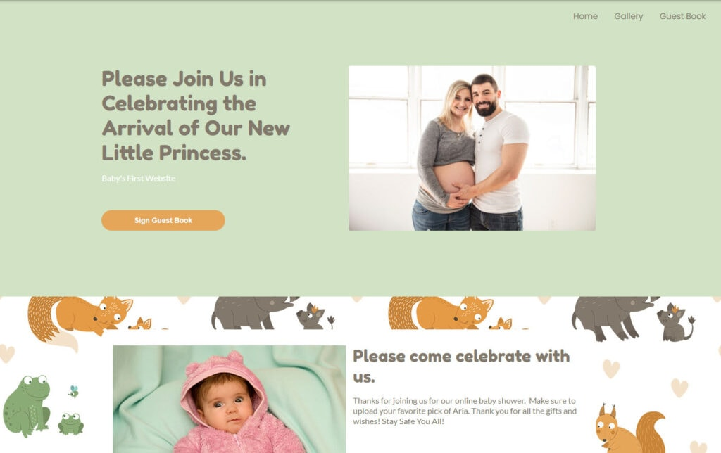 wbs homepage screengrab v3 mamaandbabyforest | WebBabyShower