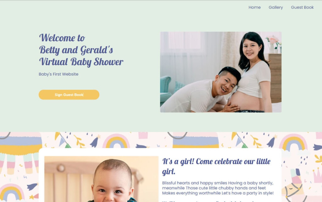 wbs homepage screengrab v3 partyllama | WebBabyShower