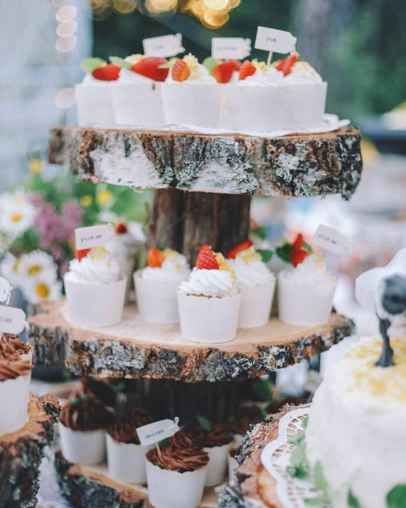 spring baby shower woodland cupcake