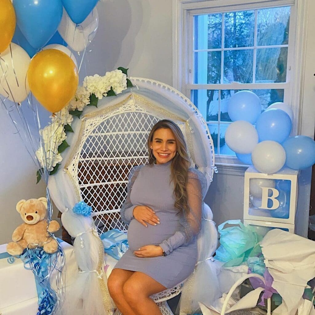 spring baby shower mom-to-be