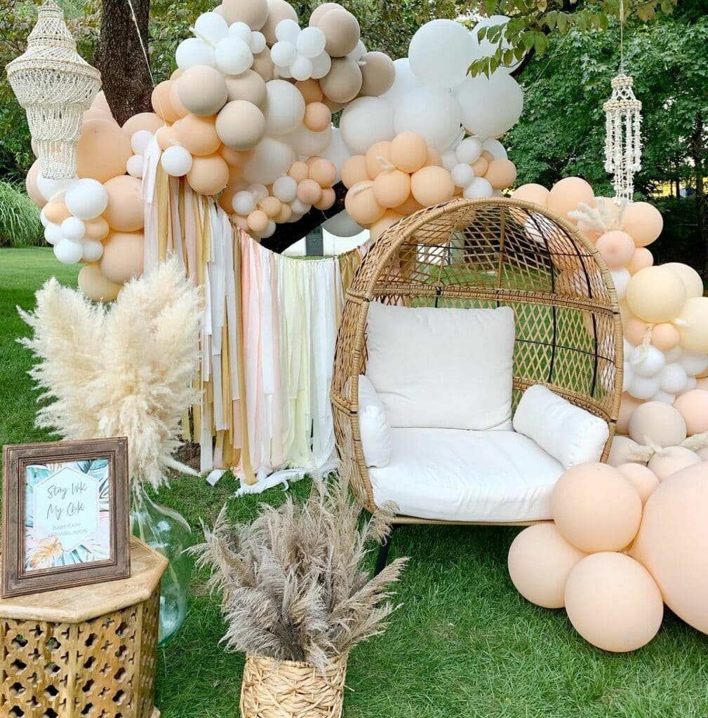 spring baby shower light colors