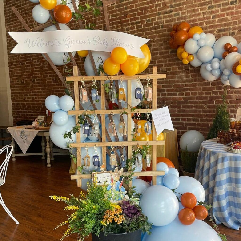 spring baby shower peter rabbit party