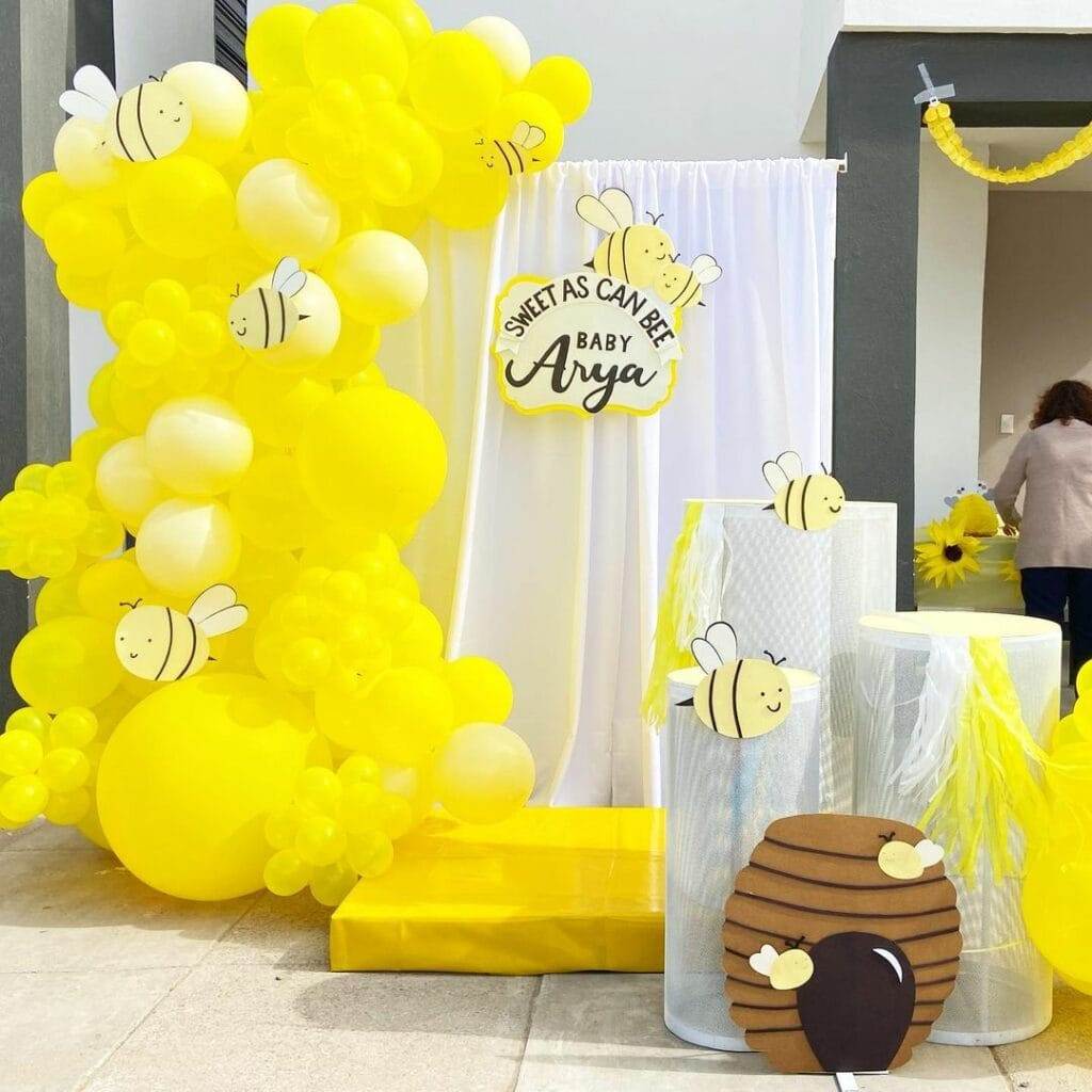 spring baby shower bee theme