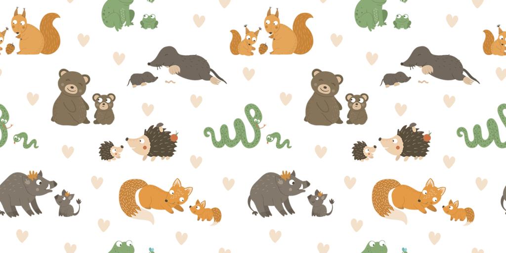 wbs 24 mommy baby forest animals background 1400 | WebBabyShower