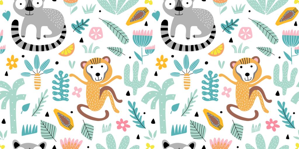 wbs 25 jungle nursery background 1400 | WebBabyShower