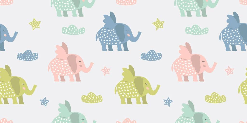 wbs 27 flying elephants background 1400   WebBabyShower