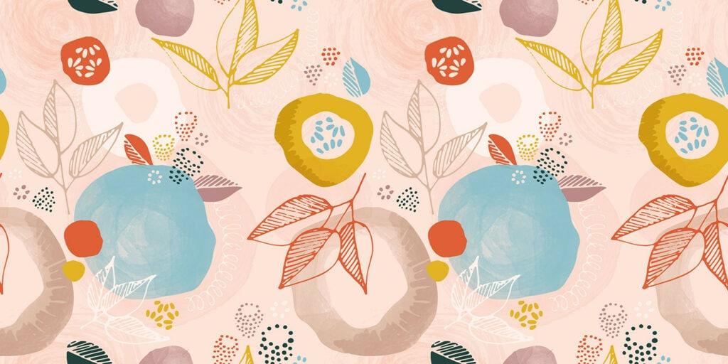wbs 35 modern botanical blush background 1400   WebBabyShower