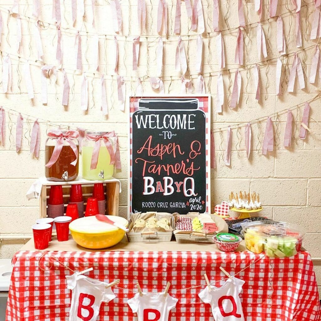 jack and jill baby shower baby q theme