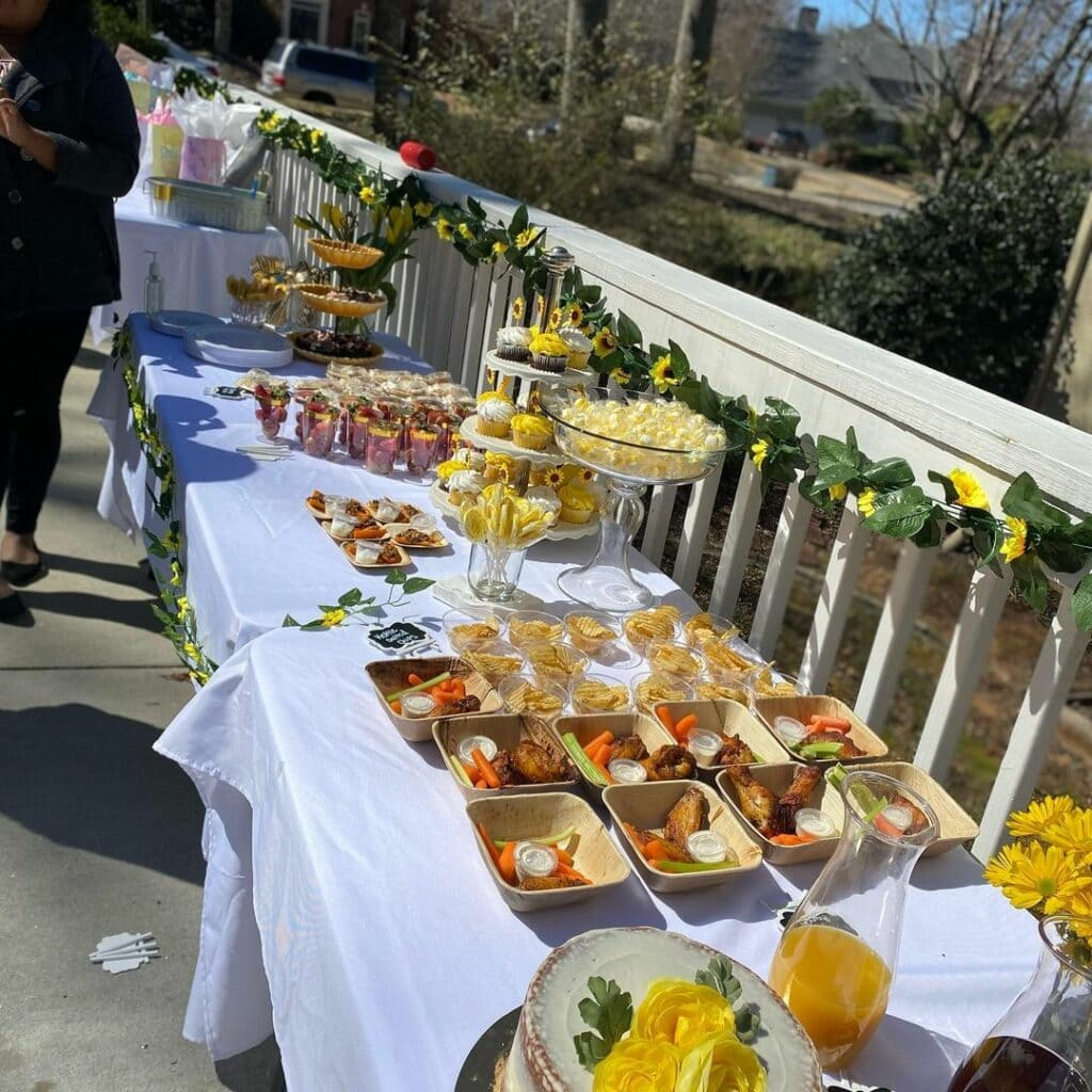 jack and jill baby shower food