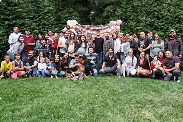 jack and jill baby shower outside