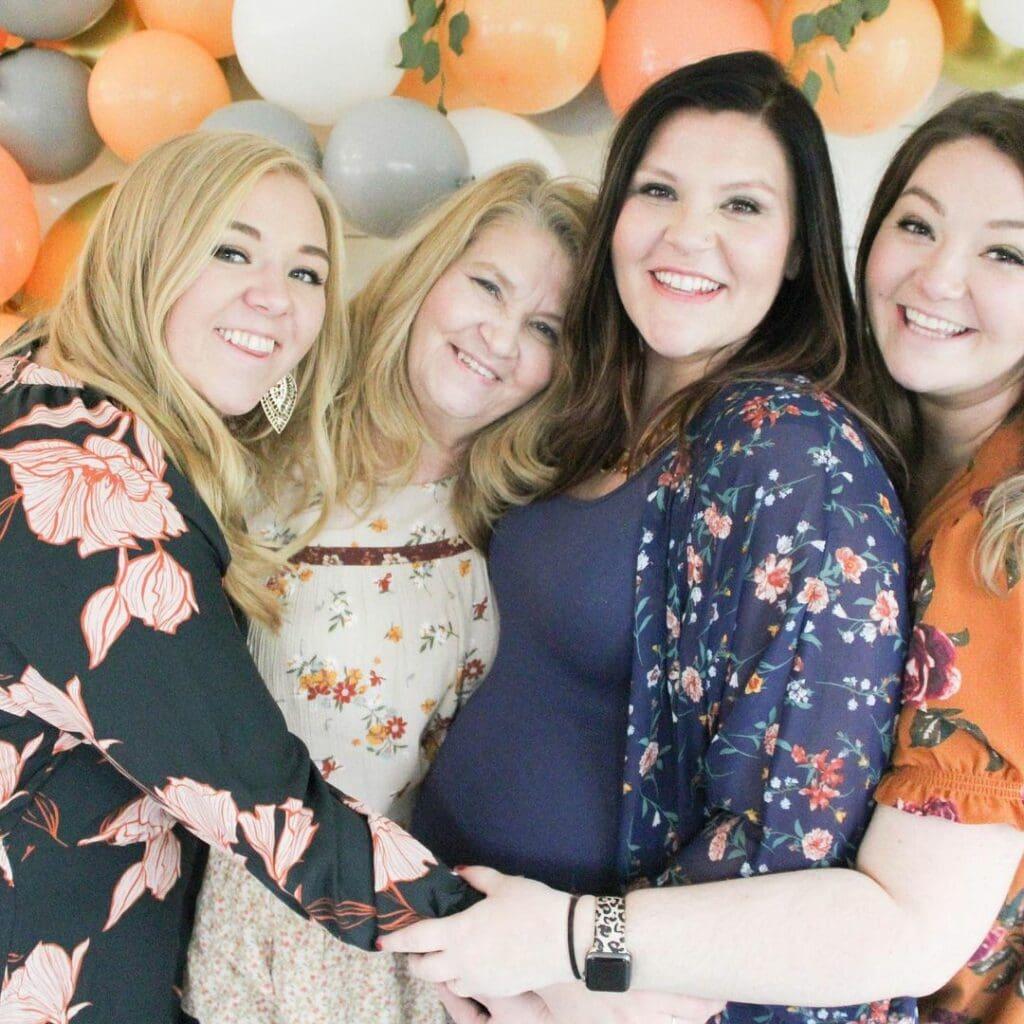 multiple baby shower family