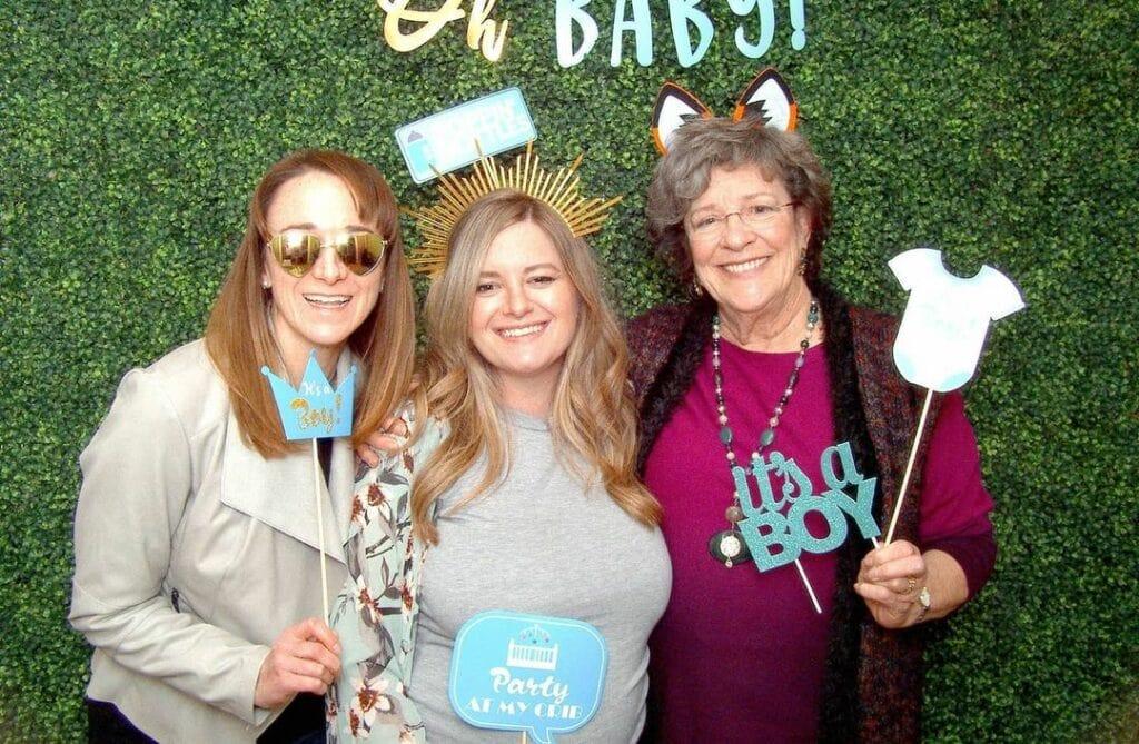 outdoor baby shower photo props