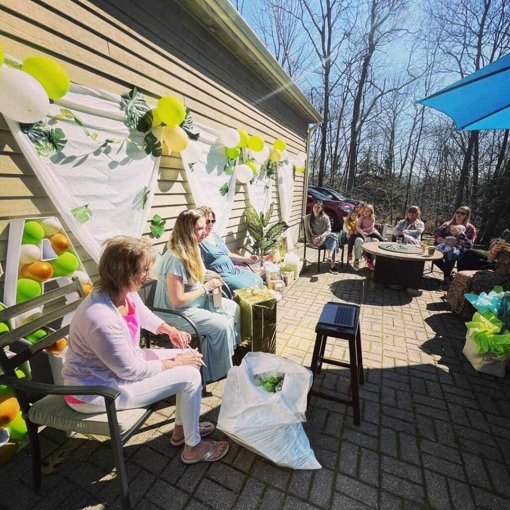 virtual outdoor baby shower