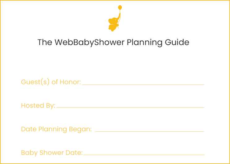wbs online planner | baby shower online planner | WebBabyShower