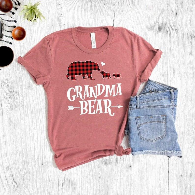 winter baby shower grandma bear shirt | WebBabyShower