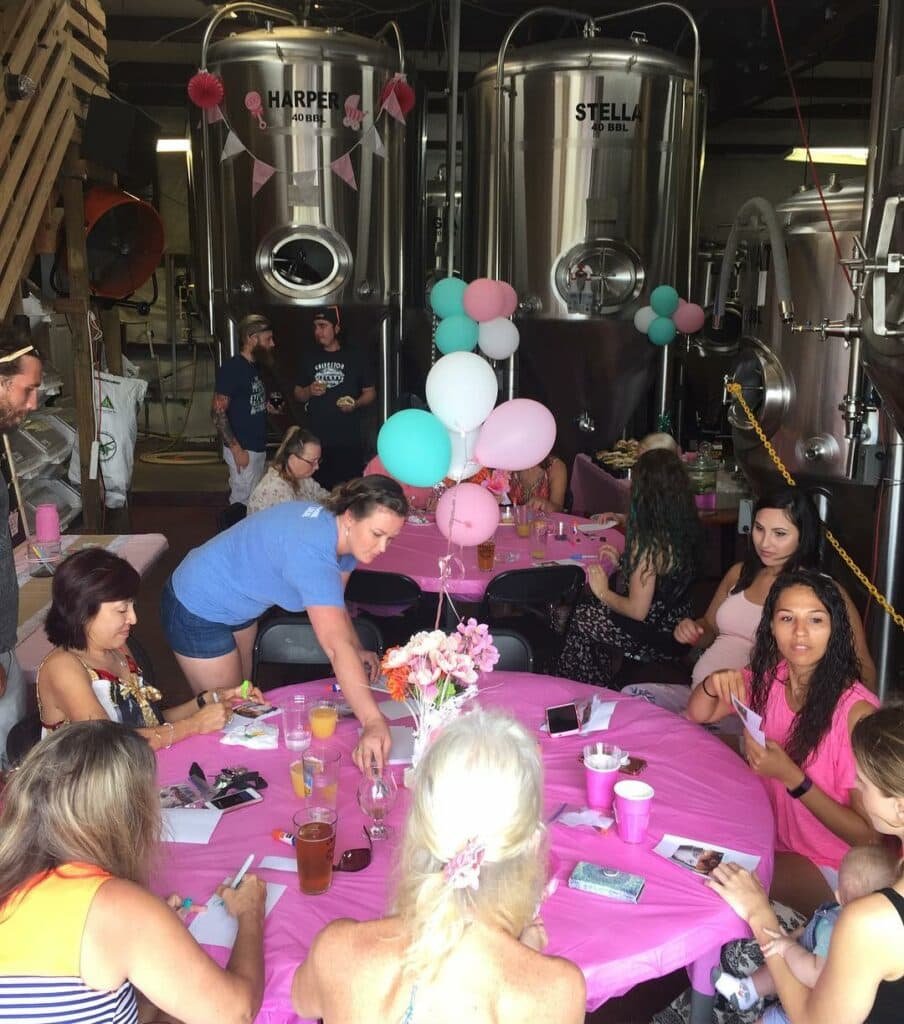 places to have a baby shower brewery