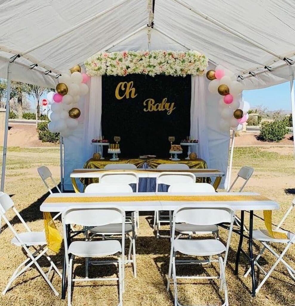 places to have a baby shower party tent