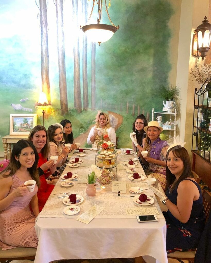 places to have a baby shower tearoom