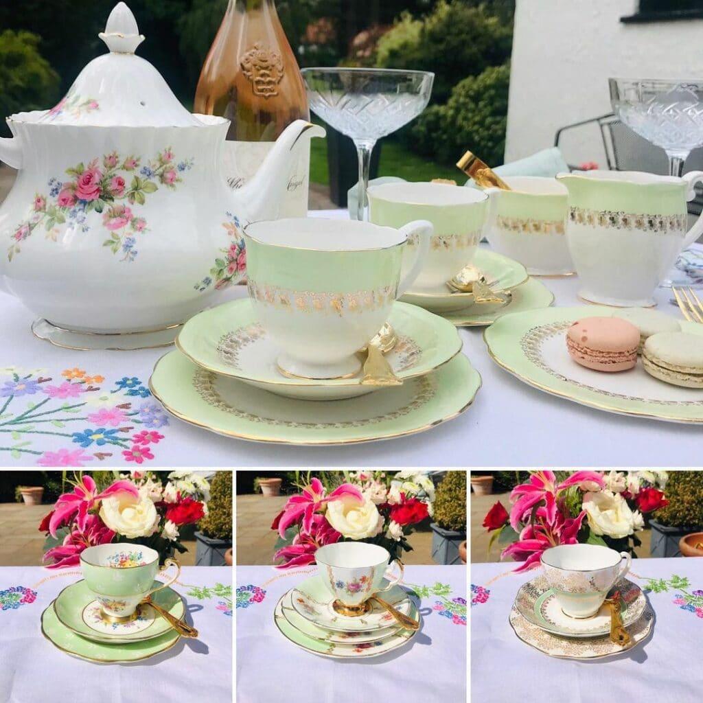 wbs green tea set | WebBabyShower