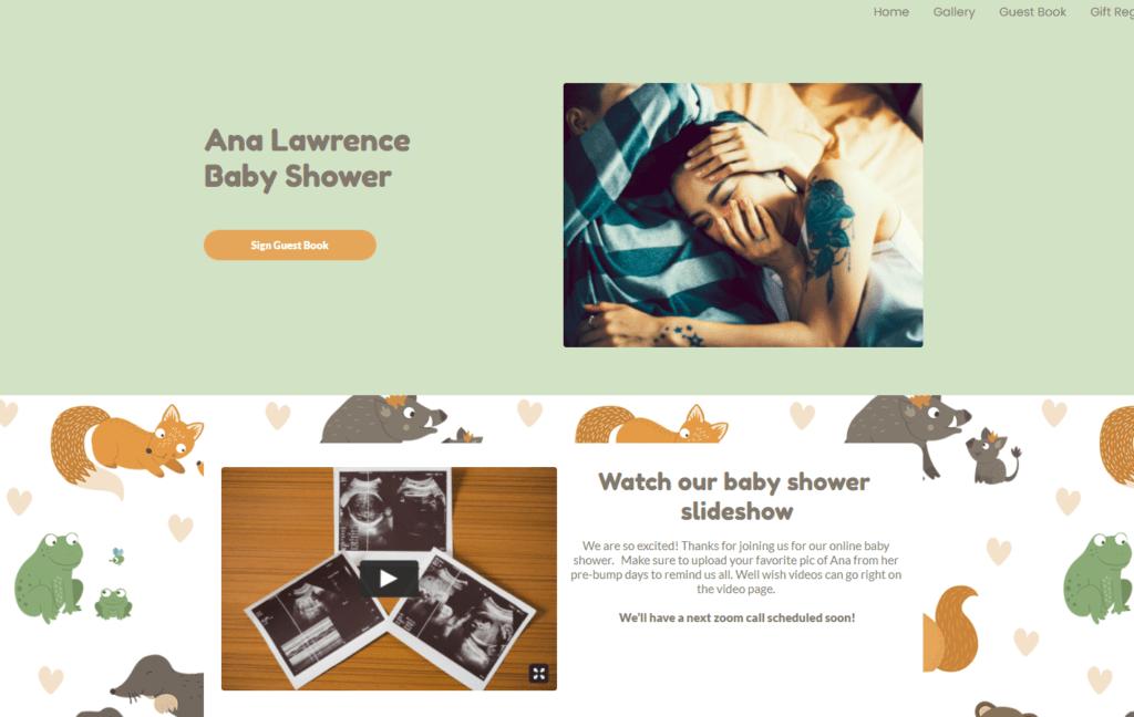baby shower slideshow on shower homepage   WebBabyShower