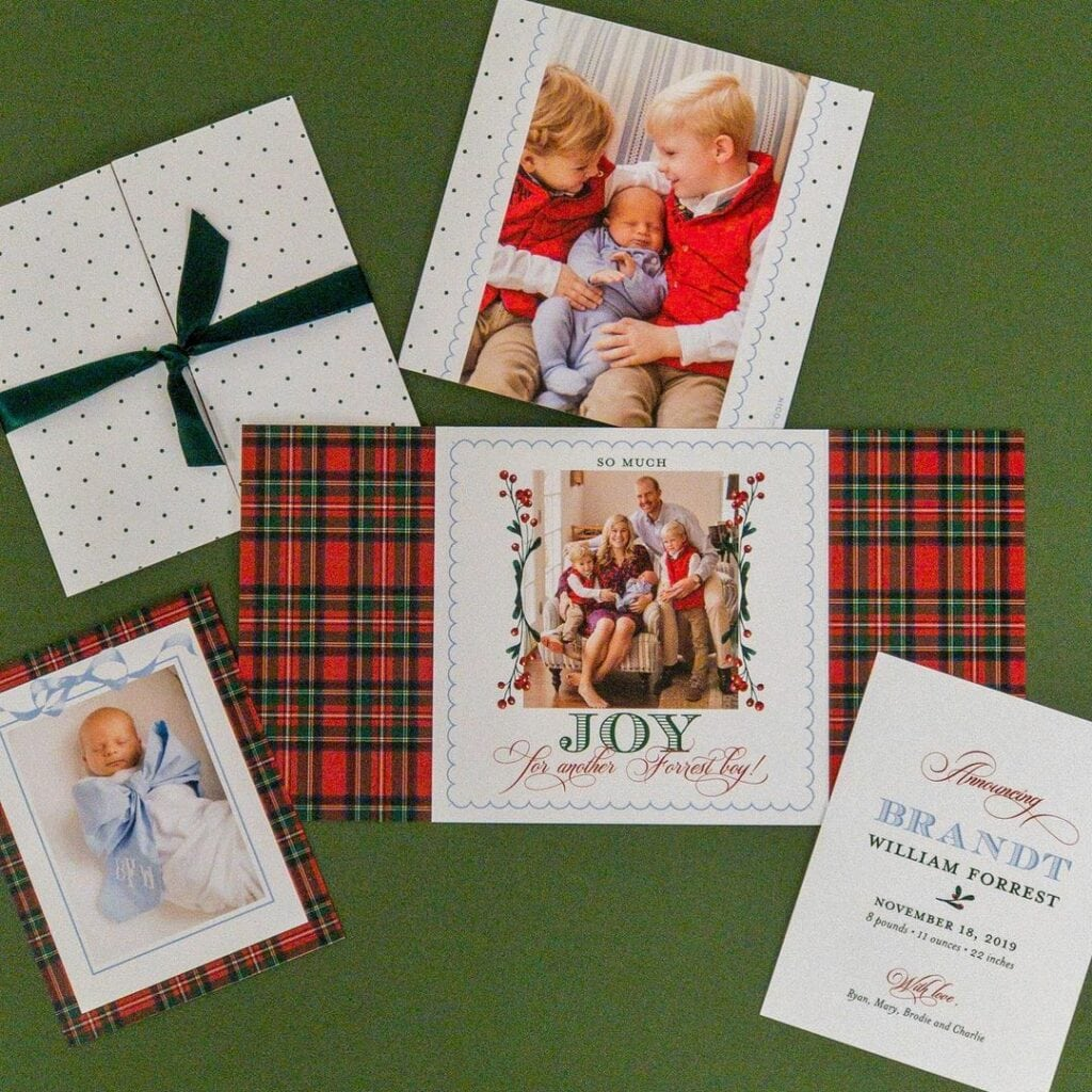 birth announcement holiday