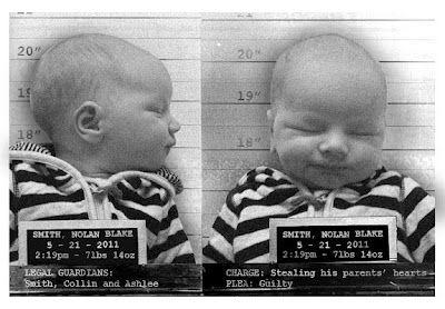 birth announcement mugshot