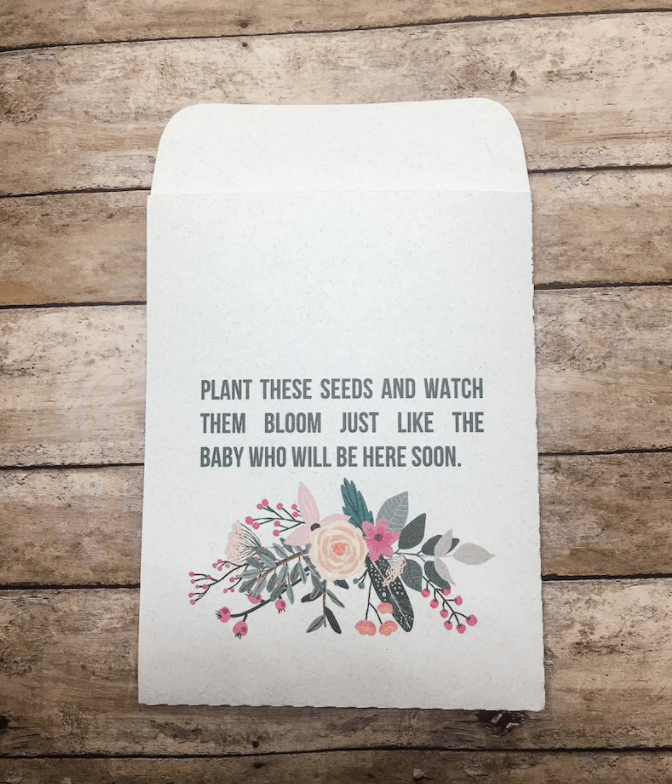 baby shower gifts seed floral theme