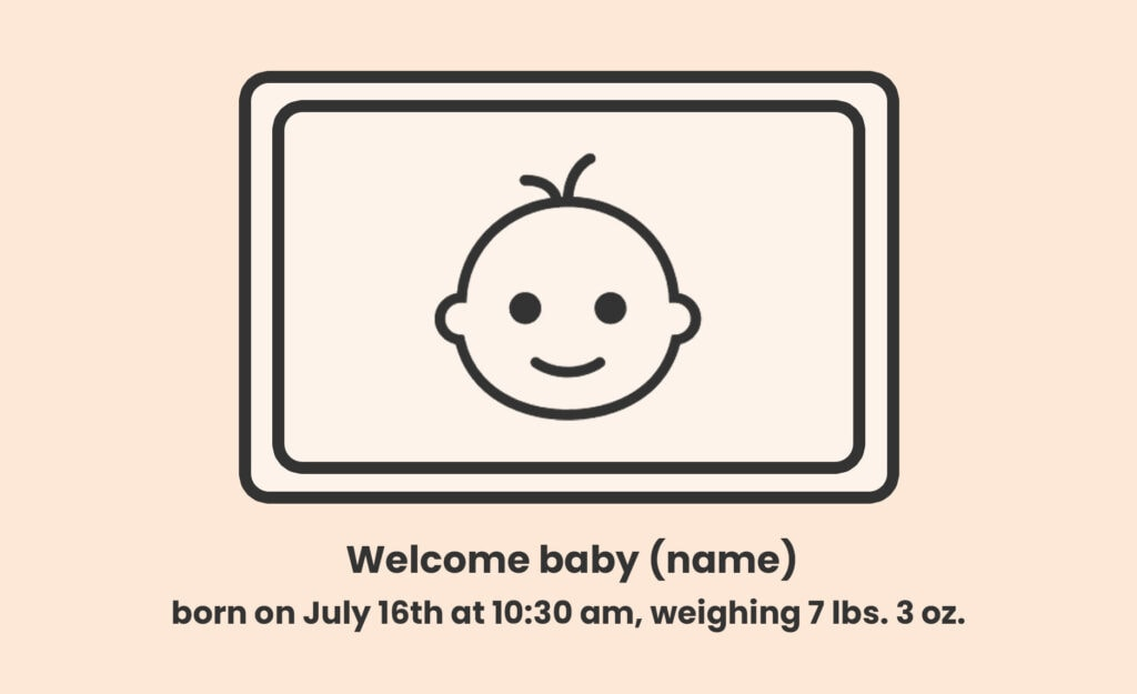 what to include in birth announcement cards