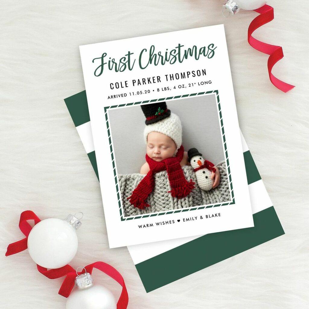 christmas design birth announcement