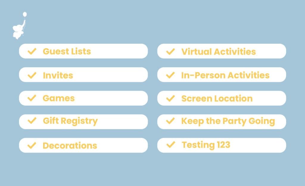 WebBabyShower inforgraphics hybrid baby shower checklist