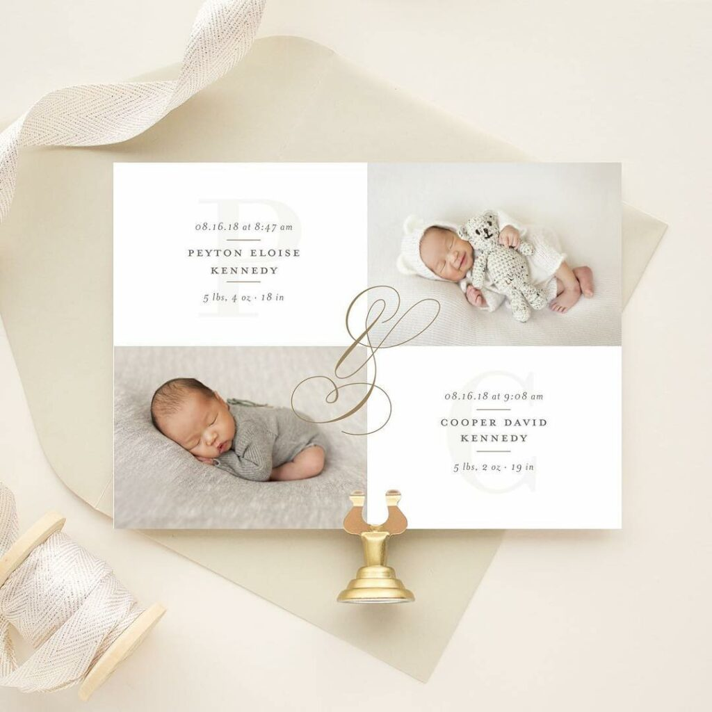 birth announcement for twins