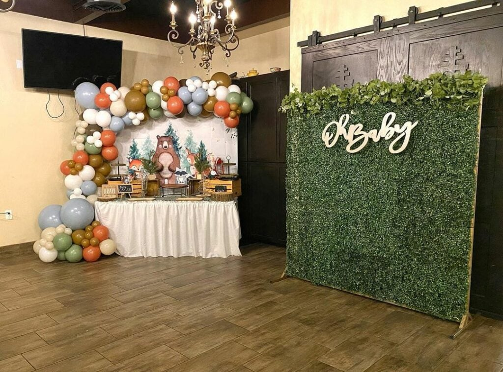 woodland baby shower theme decor