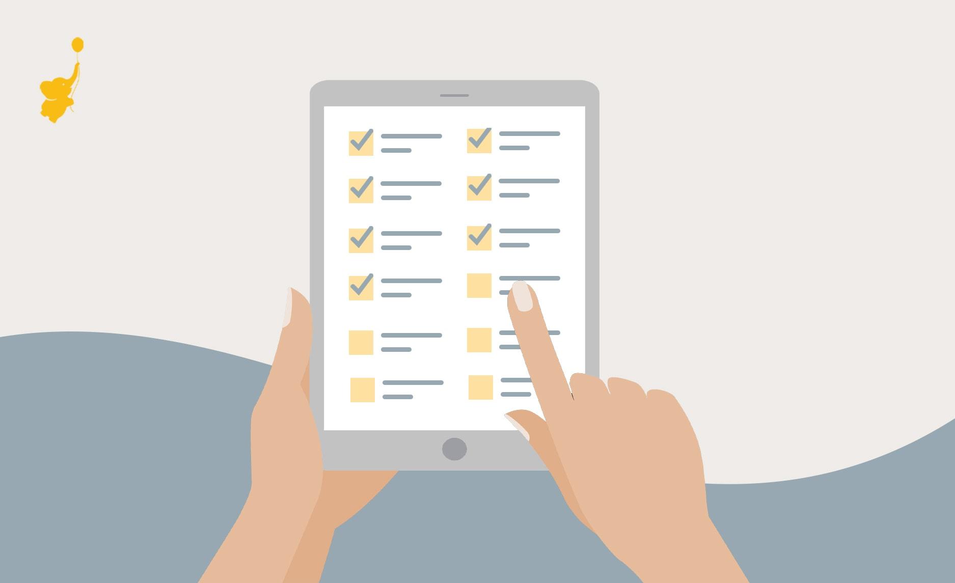 WebBabyShower header image 31 virtual baby shower checklist