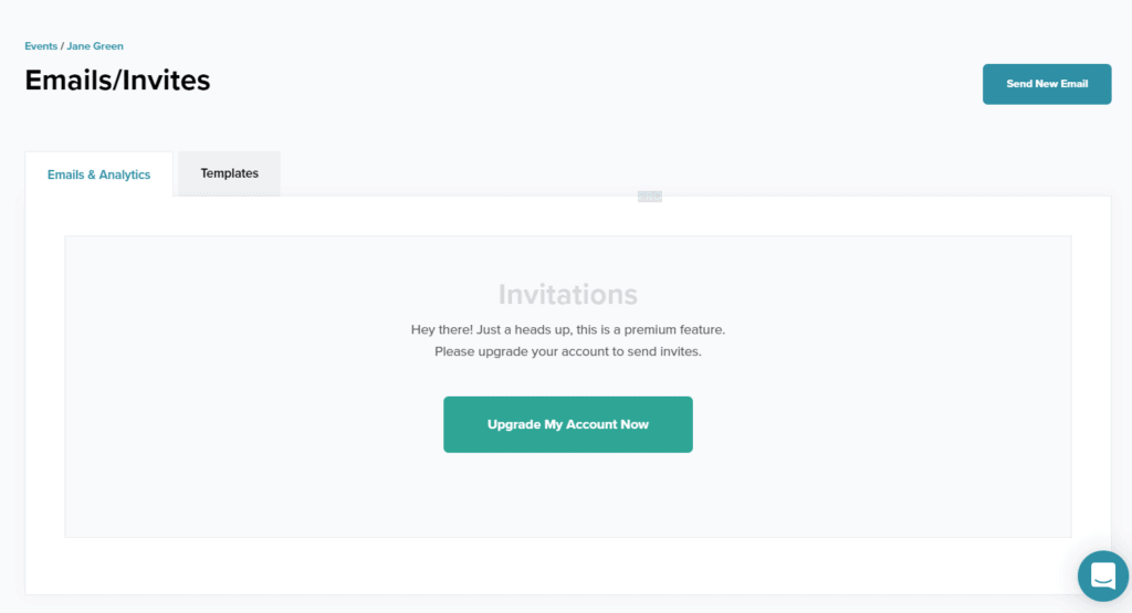 eventcreate email invite